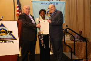 Senator Andrea Stewart-Cousins, NY's minority leader honors the Association.