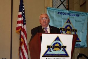 President Jack Brennan addresses members at the 20th annual meeting.
