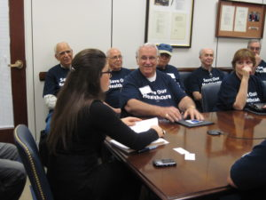 Association President Jack Brennan joined by fellow retirees, meets with Congressional staff leaders on Capitol Hill.